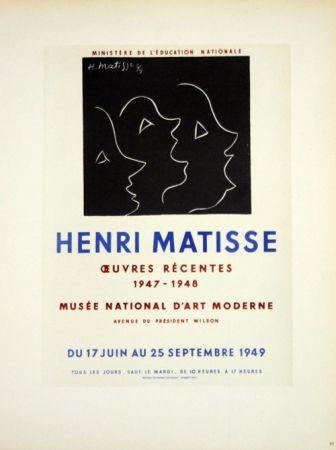 Litografia Matisse - Oeuvres Recentes Musée D'Art Moderne