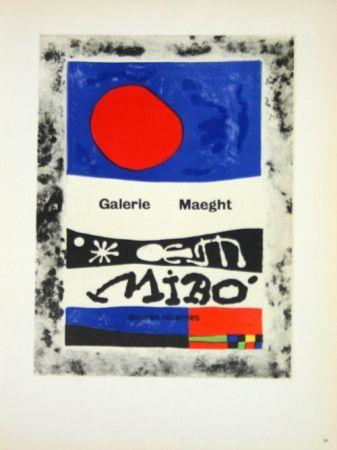Litografia Miró - Oevres Recentes Galerie Maeght