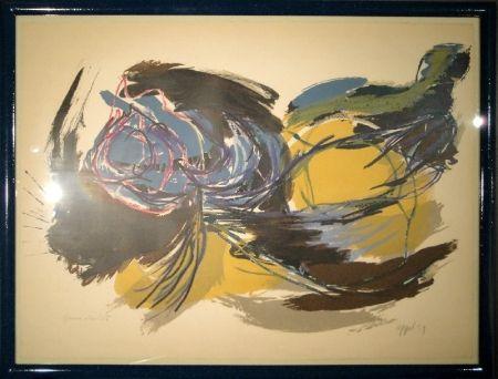 Litografia Appel - Oiseau de l'aube