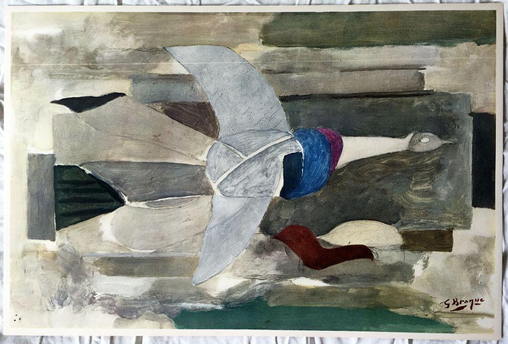 Litografia Braque - Oiseau en vol (1953)