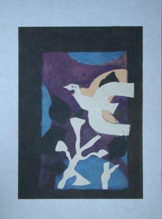 Litografia Braque - Oiseau et Lotus. Avant La Lettre