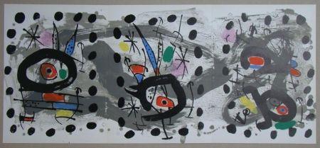 Litografia Miró - Oiseau solaire, oiseau lunaire, étincelles