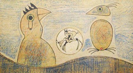 Litografia Ernst - Oiseaux / Birds