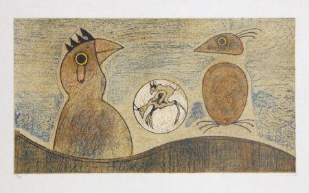 Litografia Ernst - Oiseaux Souterrains