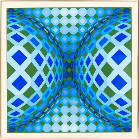 Litografia Vasarely - OKTA - CHEYT