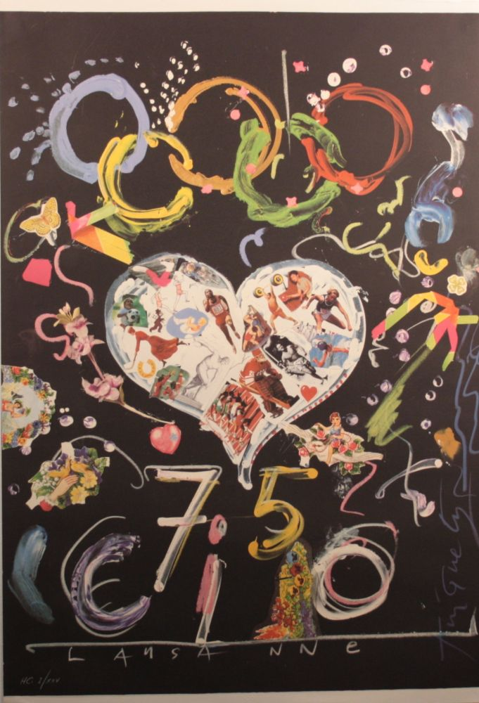 Litografia Tinguely - Olympic centennial