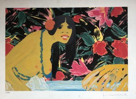 Serigrafia Fiume - Omaggio alla Polinesia