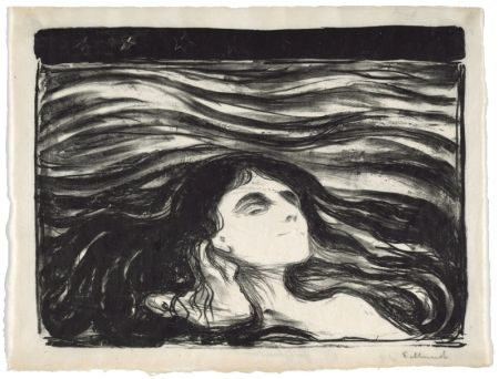 Litografia Munch - On the waves of love