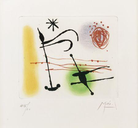 Acquaforte E Acquatinta Miró - ONE PLATE (FROM LA BAGUE D'AURORE SUITE)