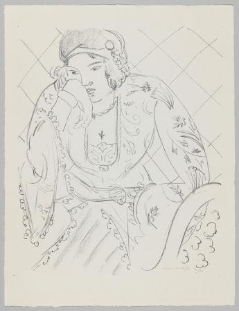 Litografia Matisse - Orientale à la croix trifoliée