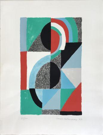 Litografia Delaunay - Oriflamme 1967