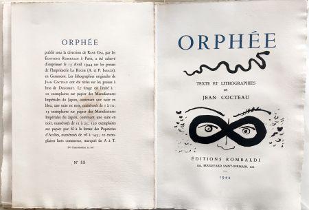 Libro Illustrato Cocteau - ORPHÉE. avec 41 LITHOGRAPHIES ORIGINALES DE JEAN COCTEAU (1944)