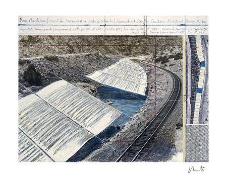 Litografia Christo - Over The Arkansas River, Project A