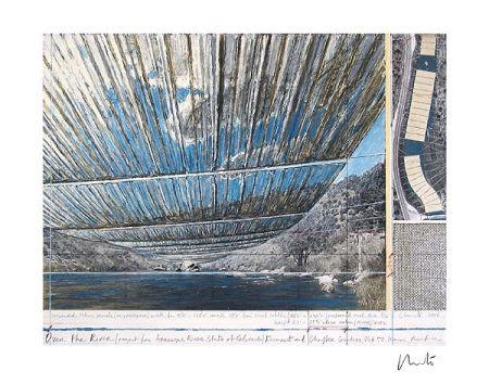 Litografia Christo - Over The Arkansas River, Project U
