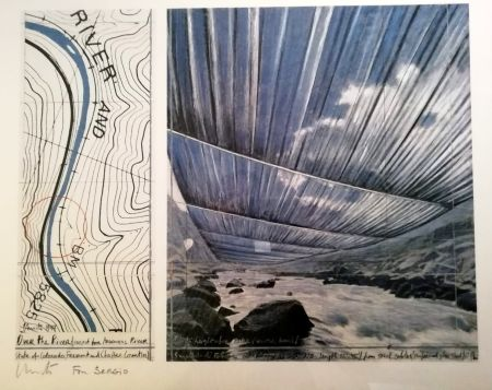 Manifesti Christo - Over the river (Project for Arkansas River) Signed