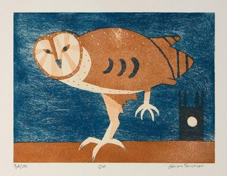 Acquaforte E Acquatinta Trevelyan - Owl