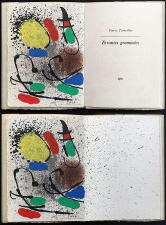Libro Illustrato Miró - P. Torreilles : ERRANTES GRAMINÉES. Lithographie originale signée (1971).