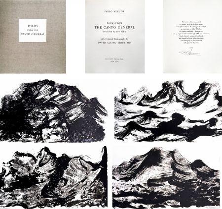 Libro Illustrato Siqueiros - Pablo Neruda: POEMS. EL CANTO GENERAL avec 10 LITHOGRAPHIES SIGNÉES (1968).