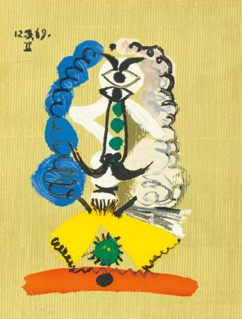 Litografia Picasso - Pablo Picasso- Portrait Imaginaires 12.3.69 II