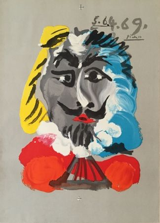 Litografia Picasso - Pablo Picasso- Portraits Imaginaires 5.6.4.69