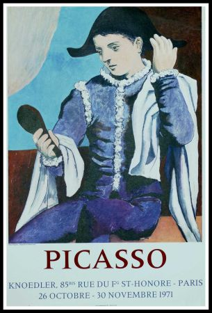 Manifesti Picasso - PABLO PICASSO GALERIE KNOEDLER L'ARLEQUIN AU MIROIR