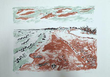 Litografia Tamburi - Paesaggio