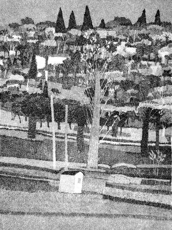 Acquaforte Gulino - Paesaggio 1983