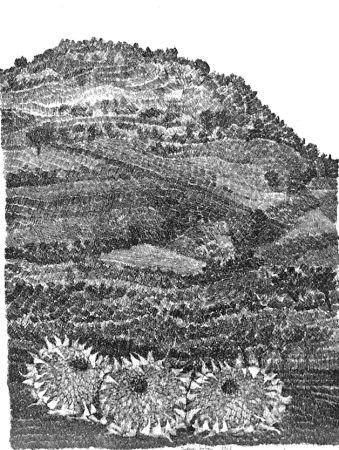 Acquaforte Gulino - Paesaggio con girasoli