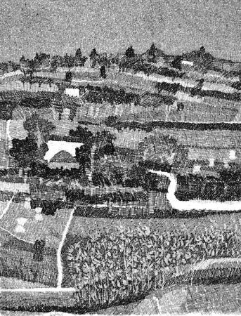 Acquaforte Gulino - Paesaggio marchigiano