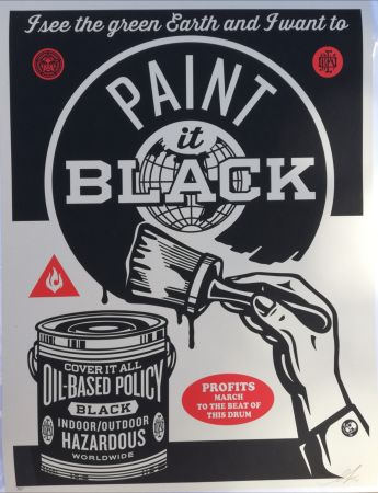 Serigrafia Fairey - Paint it black