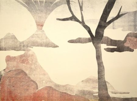 Monotipo Ikemura  - Paisajes Con El Monte Fuji 13
