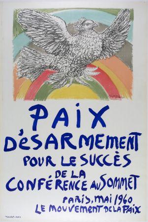 Litografia Picasso - Paix D'esarmement