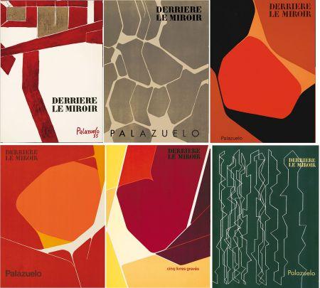 Libro Illustrato Palazuelo - PALAZUELO. Collection complète des 6 volumes de la revue DERRIÈRE LE MIROIR consacrés à Palazuelo (parus de 1955 à 1978). 26 ESTAMPES ORIGINALES.