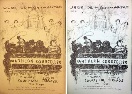 Litografia Bonnard - PANTHÉON - COURCELLES, avec une couverture de Pierre Bonnard (1899)