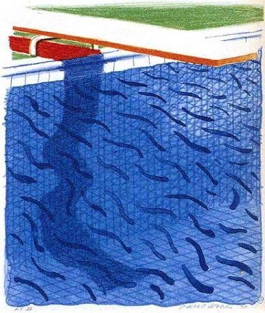 Litografia Hockney - Paper Pools