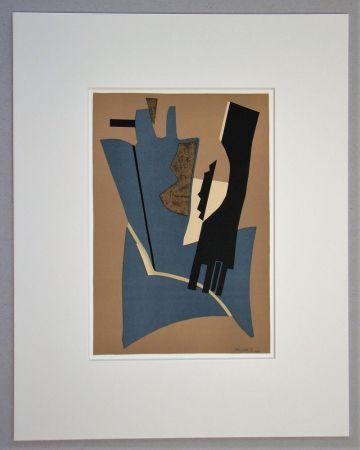 Litografia Magnelli - Papier collé - 1948