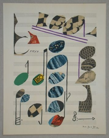 Litografia Magnelli - Papier collé, 1941