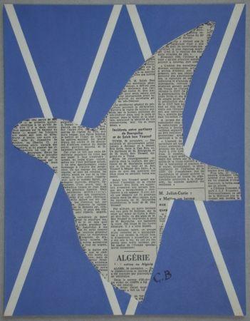 Serigrafia Braque - Papier collé pour XXe Siècle - 1955