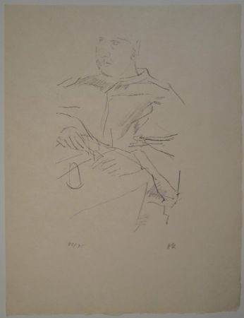 Litografia Kokoschka - Papst Leo X