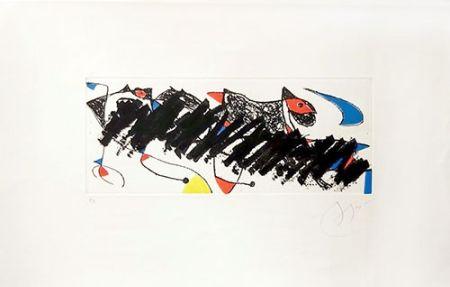 Incisione Miró - Par dessus la haie