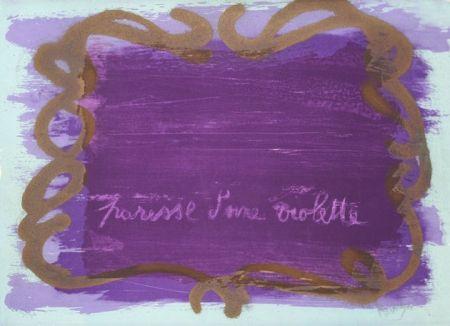 Litografia Messagier - Paresse d'une violette