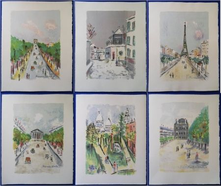 Litografia Utrillo - Paris Capitale (10 lithographies)