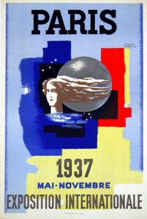 Litografia Carlu - Paris Exposition Internationale    1937