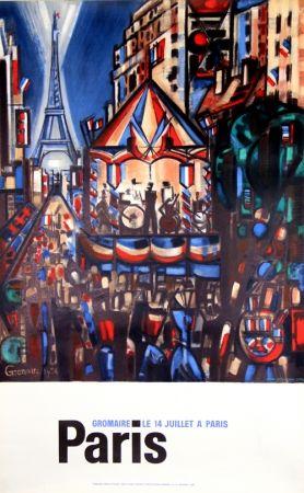 Litografia Gromaire - Paris le 14 Juillet