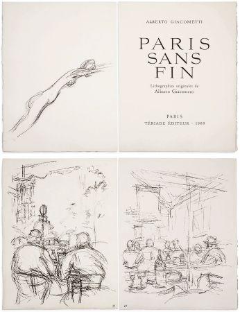 Libro Illustrato Giacometti - PARIS SANS FIN. 150 lithographies originales (1969)