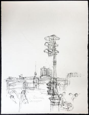 Litografia Giacometti - Paris Sans Fin. 75ème planche (1961). 1964. Tirage à part à 20 ex.