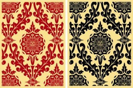 Serigrafia Fairey - Parlor Pattern Set (Cream and Red & Cream and Black)