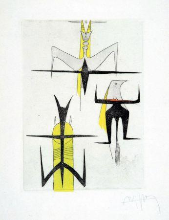 Acquaforte E Acquatinta Lam - PAROLES PEINTES (1959) 10 gravures originales de Max Ernst, Jacques Hérold, Wifredo Lam, Sébastian Matta et DorotheaTanning. Poèmes d'Alain Bosquet.