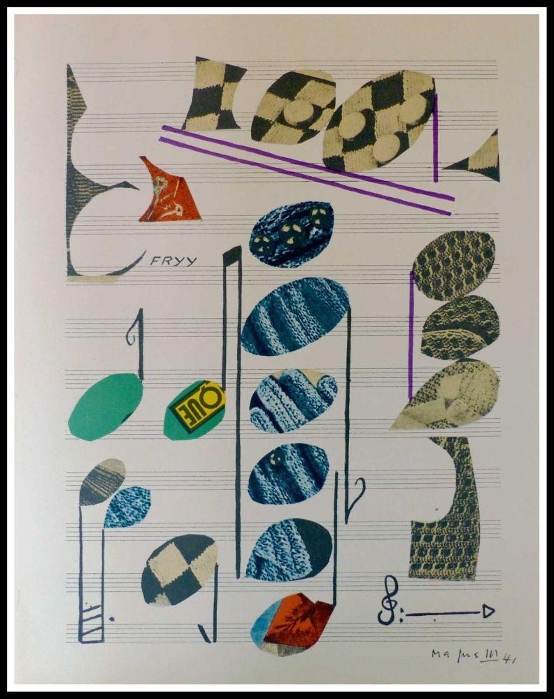Litografia Magnelli - PARTITION MUSICALE