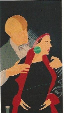 Serigrafia Katz - Pas de Deux V - Red Grooms and Liz Ross